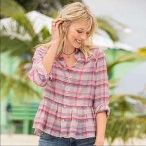 CO Shades L Lg cotton silk shirt